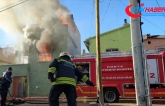 Konya'da evde çıkan yangında 3 yaşındaki çocuk ile annesi öldü