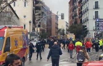 Madrid'de bir binada şiddetli patlama meydana geldi