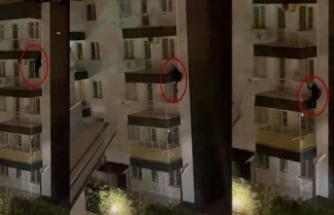5. kattan örümcek gibi aşağı inen zanlı yakalanmaktan kurtulamadı