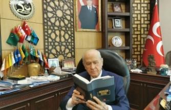 """MHP Lideri Bahçeli'den """"İnsanlığın Huzur Projesi"""" ve """"İnsanlığın Huzuru"""" eseriyle ilgili mesaj"""