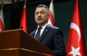Cumhurbaşkanı Yardımcısı Oktay, KKTC Başbakanı Saner ile ortak basın toplantısı düzenledi: