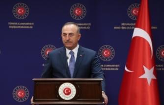Gürcistan Dışişleri Bakanı Zalkaliani ve Çavuşoğlu ile ortak basın toplantısı düzenledi