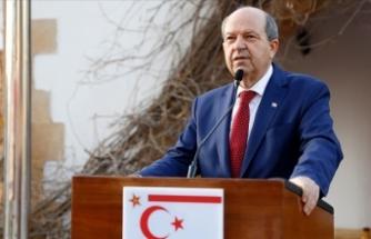 """KKTC Cumhurbaşkanı Tatar: """"Her zaman Kıbrıs Türk halkının yanında olan Türkiye suyunu da verdi"""""""