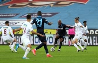 Trabzonspor ligde son 4 karşılaşmasından beraberlikle ayrıldı