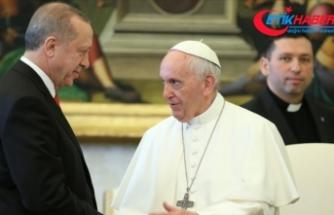 Cumhurbaşkanı Erdoğan, Papa Fransuva ile İsrail'in Filistin'e yönelik saldırılarını görüştü