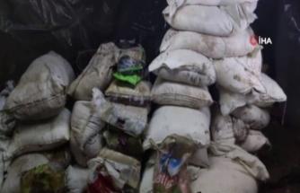 Irak'ın kuzeyinde teröristlere ait mağara içindeki mühimmatlarla imha edildi