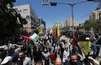 İsrail güçleri El Halil'de Filistinlilerin gösterisine müdahale: 3 yaralı