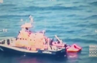Sahil Güvenlik Komutanlığı tarafından dünyaya insanlık dersi: 32 düzensiz göçmen kurtarıldı