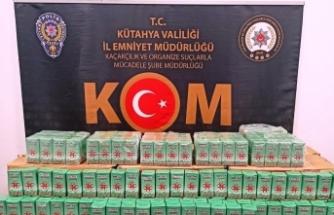 Polisin durdurduğu araçtan 212,5 kilo kaçak çay çıktı