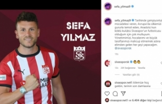 """Sivasspor'un yeni transferi Sefa: """"Mahcup etmeyeceğim"""""""