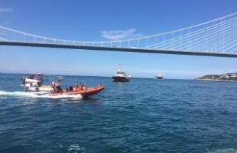 Yavuz Sultan Selim Köprüsü altında balıkçı teknesi ile gemi çarpıştı