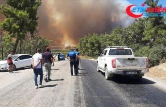Manavgat'ta çıkan orman yangınına hava ve karadan müdahale ediliyor