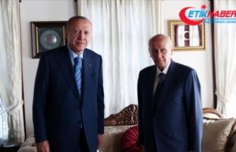 Cumhurbaşkanı Erdoğan, MHP Genel Başkanı Bahçeli'yi ziyaret etti