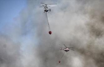 Tarım ve Orman Bakanı Pakdemirli: Yangınlarla mücadelede 16 uçak, 9 İHA, 51 helikopter kullanılıyor