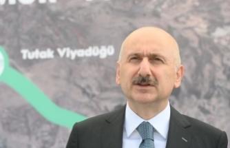 """Bakan Karaismailoğlu: """"Ağrı-Hamur-Tutak-Patnos Devlet Yolu Kuzey-Güney aksının önemli bir parçası"""""""