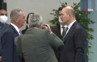 Bakan Soylu, KKTC İçişleri Bakanı Evren'le görüştü
