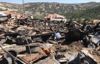 Çamlıdere'de çıkan yangında 8 ev, 7 samanlık ve 2 ahır kullanılamaz hale geldi