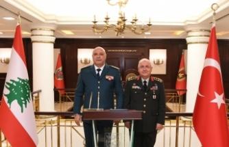 Genelkurmay Başkanı Orgeneral Güler, Lübnanlı mevkidaşı Korgeneral Aoun'u ağırladı