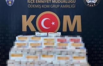 İzmir'de sahte bandrollü binlerce makaron ele geçirildi