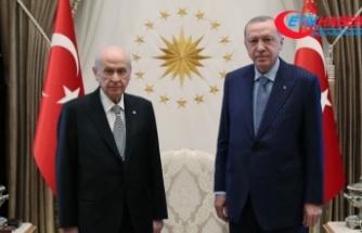 Cumhurbaşkanı Erdoğan ve MHP Lideri Bahçeli görüşme gerçekleştirdi
