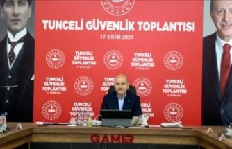 İçişleri Bakanı Soylu: Tunceli'de şu anda 3 milyar 699 milyon devam eden yatırım var
