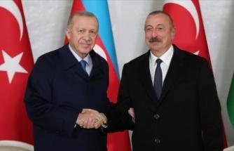 İlham Aliyev, 29 Ekim Cumhuriyet Bayramı dolayısıyla Cumhurbaşkanı Erdoğan'ı kutladı