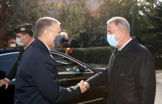 Milli Savunma Bakanı Akar, Sırp mevkidaşı Stefanoviç'i ağırladı