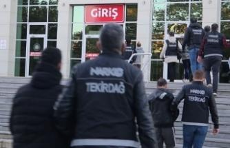 Tekirdağ'da uyuşturucu operasyonu: 70 gözaltı