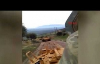 Tankların sınır geçip Afrin'e ilerlemesi devam ediyor
