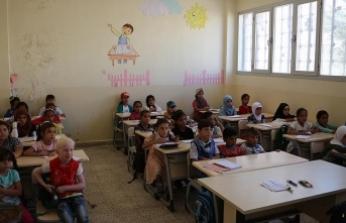 Suriye'de TDV'nin desteklediği okulda ders başı yapıldı