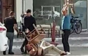 Yaraladığı kişinin yakınları, masa ve sandalyelerle dövdü