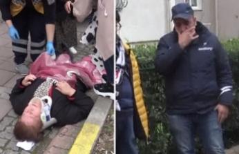 Çarptığı kadını yaralı görünce gözyaşlarına boğuldu