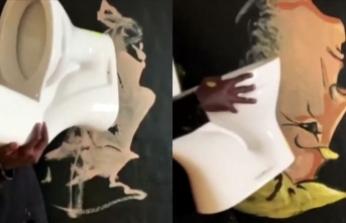 Senegalli sanatçı Trump'ı klozetle resmetti