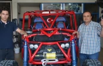 Oto elektronik ustası yarışlara katılabilmek için kendi off-road aracını yaptı