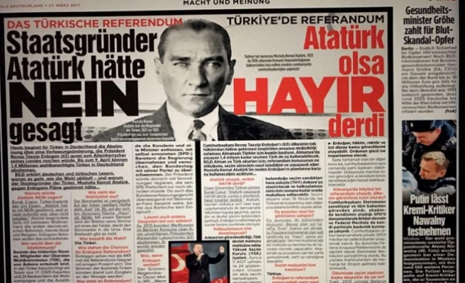 Alman Bild gazetesinden 'Atatürk'lü hayır kampanyası'