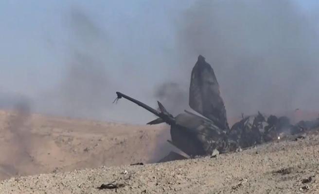 Düşen uçağın Suriyeli pilotu enkazdan 40 kilometre güneyde bitkin halde bulundu