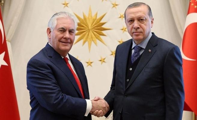 Erdoğan ile Tillerson görüştü