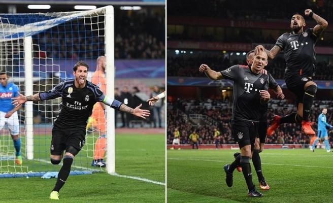 Real Madrid ve Bayern Münih çeyrek finalde