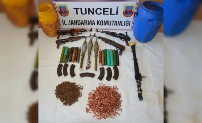 Tunceli'deki operasyonda teröristlere ait sığınaklar imha edildi