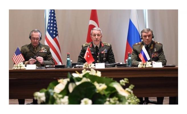 Türk, ABD ve Rusya Genelkurmay Başkanları Antalya'da bir araya geldi
