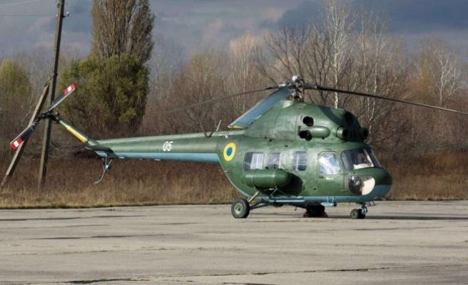 Ukrayna'da Mi-2 tipi askeri helikopter düştü