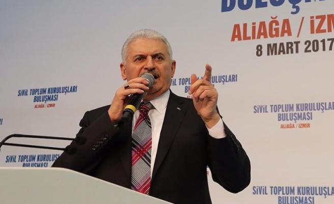 Yıldırım: 16 Nisan'da Türkiye 'evet'le Avrupa'yı inletecek
