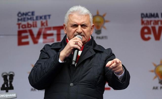 Yıldırım: Türkiye'yi tehdit edenler hayır cephesinde kol kola girdi