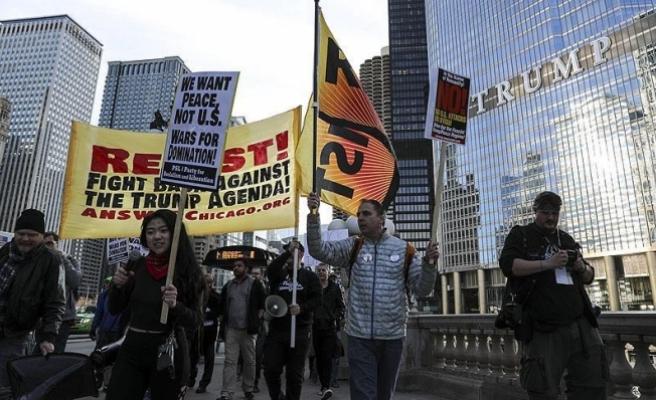 ABD'nin füze saldırısı Chicago'da protesto edildi