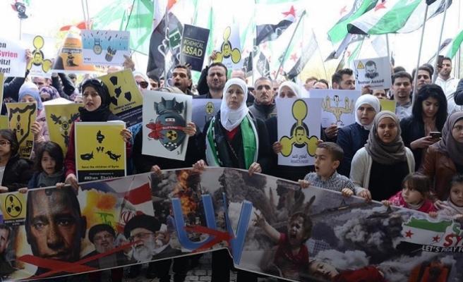 Avusturya'da İdlib protestosu