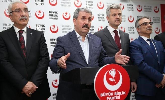 BBP Genel Başkanı Destici: Milletimizin iradesi açık bir şekilde tecelli etmiştir