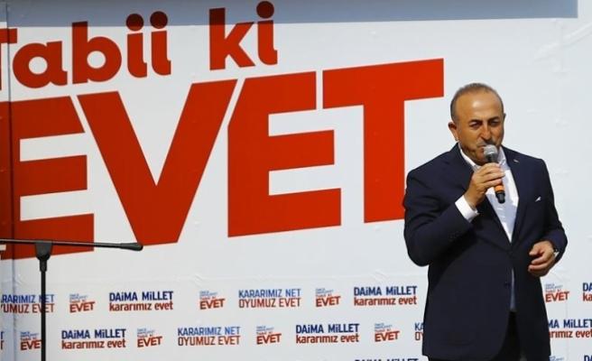 Dışişleri Bakanı Çavuşoğlu: Türkiye'nin geleceğini oylayacağız