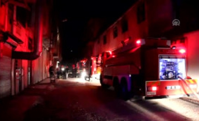 Gaziantep'te Deri Fabrikasında Yangın