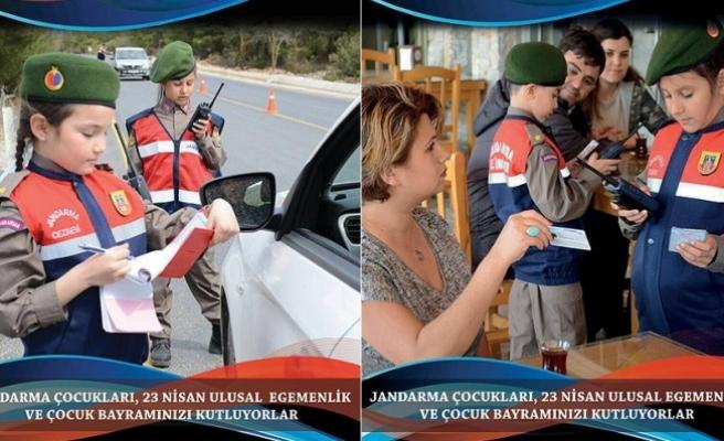 Jandarma'dan 23 Nisan'a özel afiş