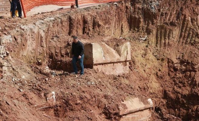 Kocaeli'de Roma dönemine ait lahit mezarlar bulundu